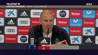 """Ligue des champions - Zidane : """"Je suis indigné"""""""