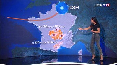 Tempête Amélie : quatre départements toujours en vigilance orange