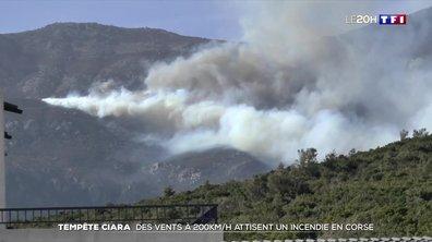 Tempête Ciara : des vents de plus de 200 km/h attisent un incendie en Corse