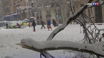 Tempête Filomena en Espagne : Madrid paralysée par la neige
