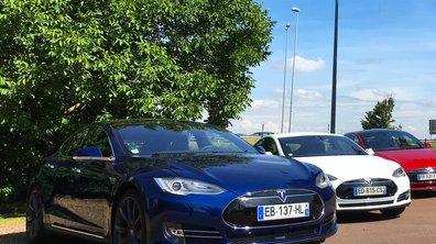 """Tesla implante ses bornes """"Superchargers"""" sur les aires d'autoroutes"""