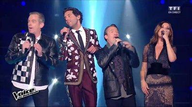 En direct, Zazie, Garou, Florent Pagny et Mika reprennent « Temps à nouveau » (J-L Aubert) (Saison 05)