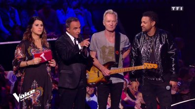 Les félicitations de Sting et Shaggy à Maëlle pour sa victoire
