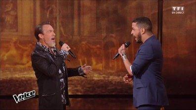 Florent Pagny et Slimane réunis pour chanter « Les murs porteurs » lors de la finale (Saison 05)