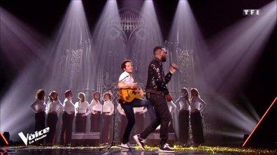 """Maître Gims et Vianney : """"La même"""" en live sur la scène de """"The Voice"""""""