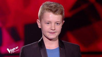 The Voice Kids : Kylian chante « Voler de nuit » de Calogero (Team Amel Bent)