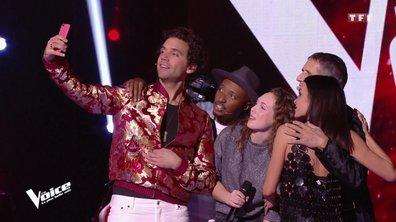 MAGIQUE pour Coline 🤳 1 selfie avec Mika, Jenifer, Julien Clerc et Soprano