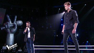 """The Voice 2021 – Angelo VS Alexis Roussiaux chantent """"Casser la voix"""" de Patrick Bruel"""