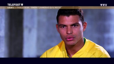 """[EXCLU Téléfoot 15/04] – Thiago Silva : """"Emery ? J'aimerais qu'il reste"""""""