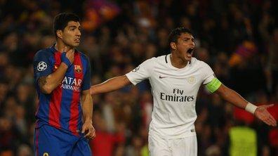 """Ligue des champions - FC Barcelone / PSG (6-1) : Thiago Silva : """"Comme capitaine, je suis très fier de mes joueurs"""""""