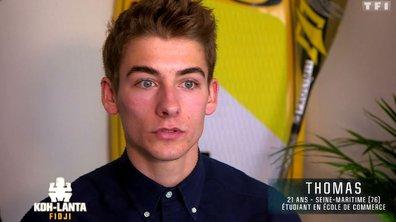 Découvrez Thomas, nouvel aventurier de l'émission (VIDEO)