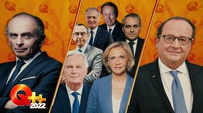 """Q++ 2022 : """"l'humour"""" selon Zemmour, la com' du congrès LR et le retour surprise d'Hollande"""