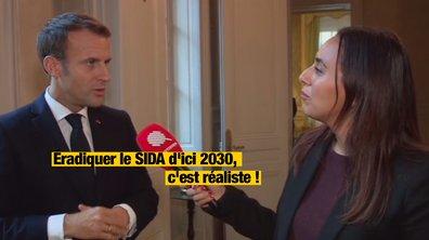 """Le Moment de vérité : pour Emmanuel Macron, """"éradiquer le SIDA d'ici 2030, c'est réaliste"""""""