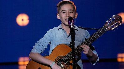 "The Voice Kids 2020 - Tony chante ""Ca pleure aussi un homme"" de Ginette Reno / Sébastien El Chato"