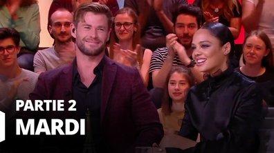 Quotidien, deuxième partie du 4 juin 2019 avec Chris Hemsworth, Tessa Thompson et Mathieu Gallet