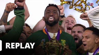 La remise de la Coupe du monde de rugby