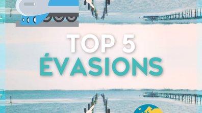 Top 5 des Fuites et évasions
