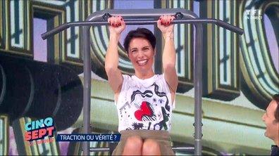 """Alessandra Sublet joue à """"Traction ou vérité"""""""