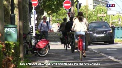 Trafic : les embouteillages ont gagné les pistes cyclables