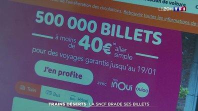 Trains déserts : la SNCF brade ses billets