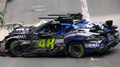 Transformers 3 : photos du tournage et des NASCAR très spéciales