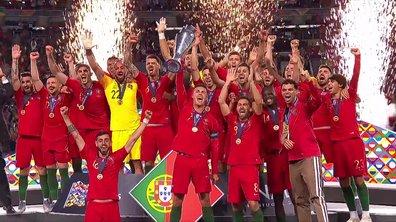 Les Portugais soulèvent le trophée de la Ligue des Nations