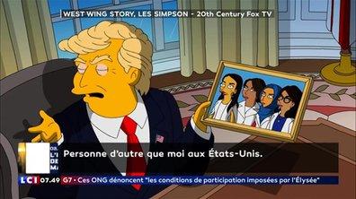Trump de nouveau moqué par les Simpsons !