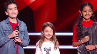 The Voice Kids 2020 – Battle - Nathan vs Kanesha vs Lena chantent « Tombe » de Matt Pokora (Team Jenifer)