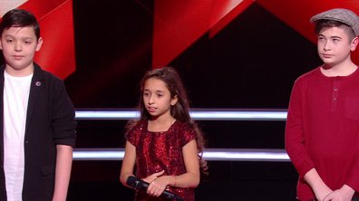 "The Voice Kids - BOULEVERSANT ! Rébecca, Martin et Thomas chantent ""Utile"" de Julien Clerc"