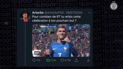 VIDEO - Griezmann relève un défi de Twitter... en plein match des Bleus !