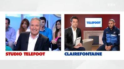 En duplex de Clairefontaine avec l'équipe de France