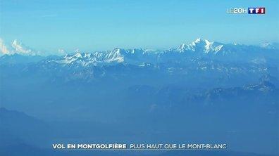 Un vol en montgolfière plus haut que le Mont-Blanc