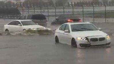Insolite : Les inondations peuvent bloquer trois BMW, mais pas une Audi !