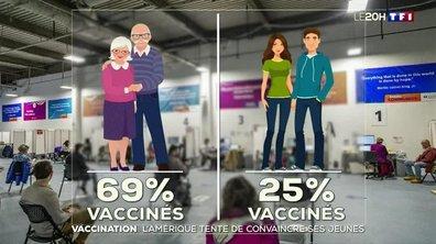 Vaccination contre le Covid : les autorités américaines prêtes à tout pour convaincre les jeunes