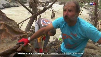 Vallée de la Vésubie : huit mois après la tempête Alex, le nettoyage de la rivière continue