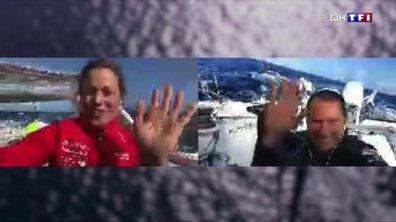 Vendée Globe : Romain Attanasio et Samantha Davis éloignés mais toujours aussi proches