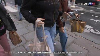 Vente d'alcool aux mineurs : la loi n'est pas respectée