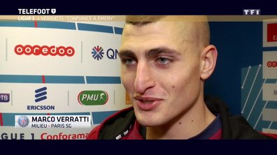 "[EXCLU Téléfoot 10/12] - Ligue 1 / PSG - Verratti ""On a confiance en Unai Emery"""