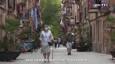 Vidée de ses touristes, la ville de Barcelone joue sa survie
