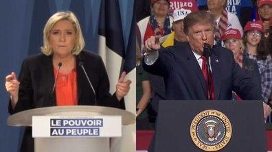 Donald Trump vs Marine Le Pen, deux discours un seul contenu