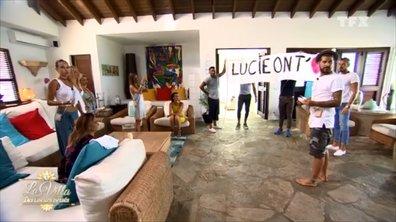 EXCLU. Découvrez la jolie surprise des cœurs brisés à Lucie avant de quitter la villa (VIDEO)