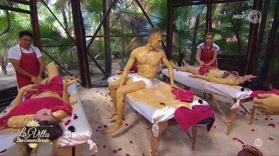 Massage au premier rendez-vous pour Martika, Guillaume et Elodie !