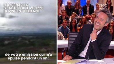 Vincent Dedienne nous a laissé un message pour la dernière émission : et c'est tout mignon