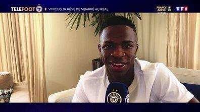 """Vinícius Júnior : """"Mbappé au Real Madrid ? D'ici peu de temps je pense qu'il viendra"""""""