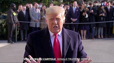 Violences au Capitole : Donald Trump se défend