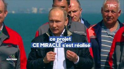 Vladimir Poutine en Crimée : un pont pour arme politique