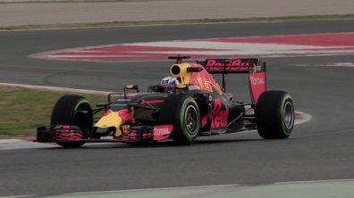 F1 2016 : premiers roulages de la Red Bull RB12 aux essais de Barcelone