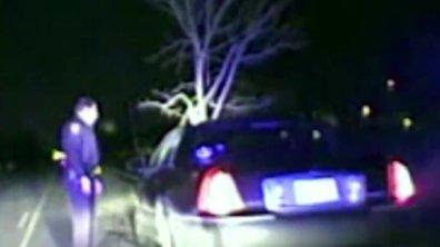 Insolite : elle conduit avec un arbre de 4 mètres dans le capot !