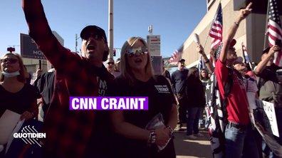 """""""Donald Trump a gagné !"""" : les pro-Trump manifestent devant le siège de CNN"""