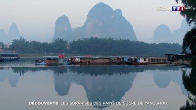 Voyage dans les pains de sucre de Yang Shuo en Chine